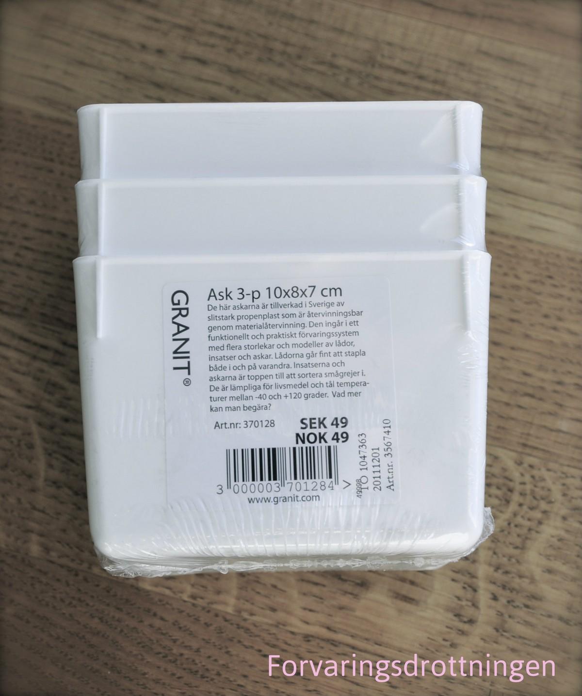 Granit smålådor 3-pack