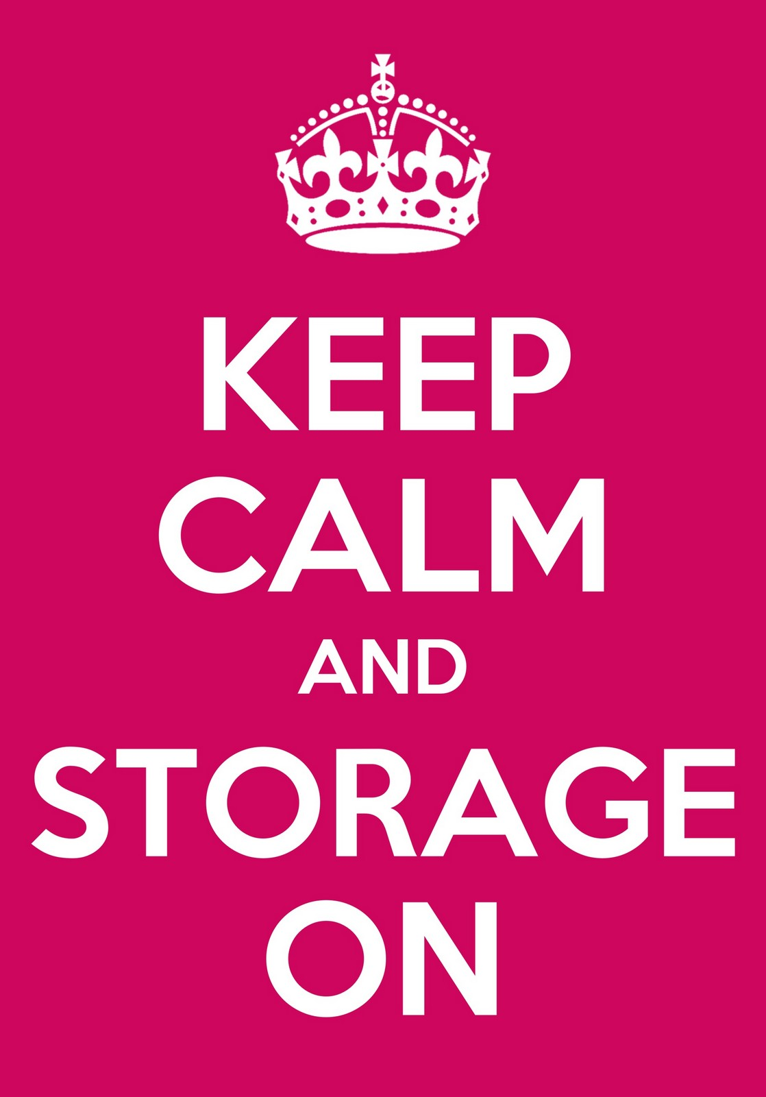 keep calm and storage on