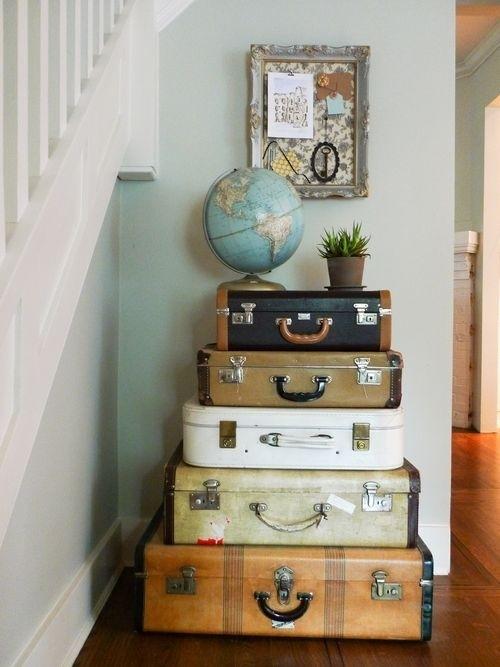 väskor ovanpå varandra