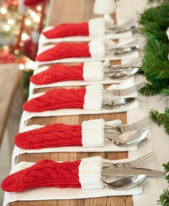 Dekoration på julbordet