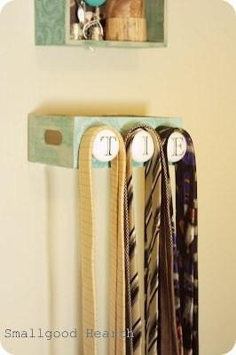 egengjord slipsförvaring