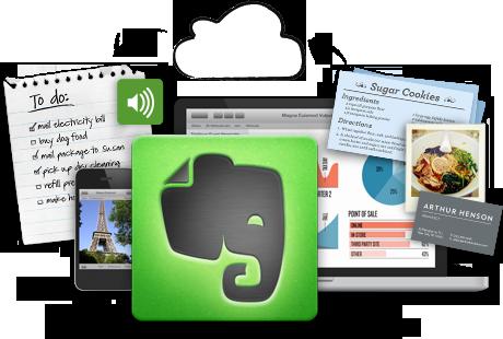 förvaring av digitala anteckningar - Evernote