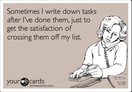 stryka saker från att-göra-listan