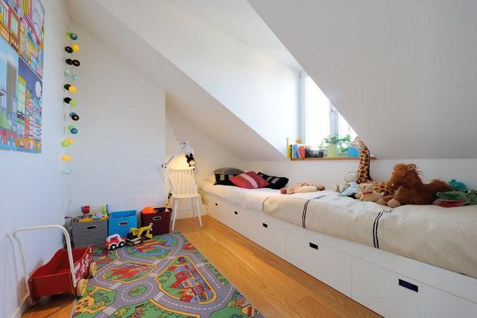 Barnrum med snedtak