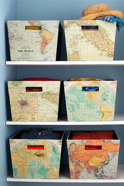 gör-själv-backar med kartor