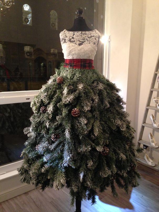 julgran av kläddocka