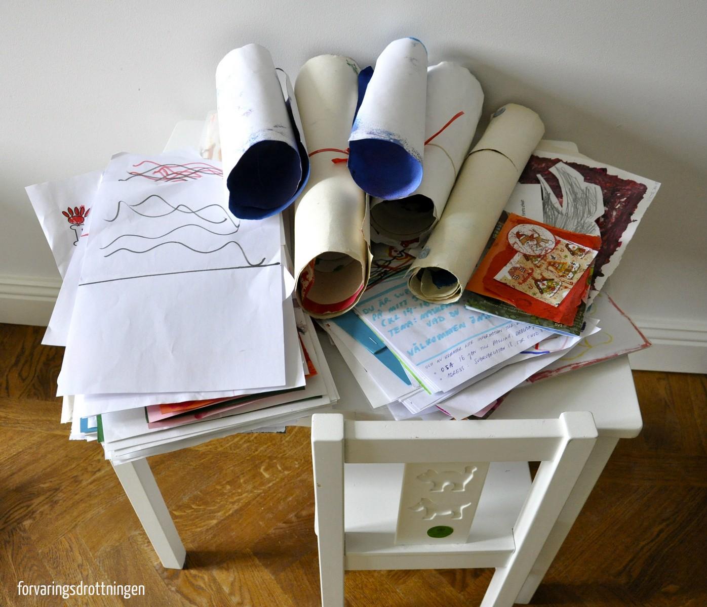 Hur rensa barnens teckningar - före