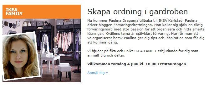 Förvaringsdrottningen föreläsning IKEA Karlstad