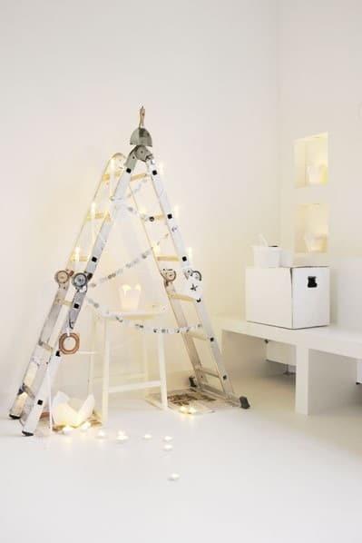 julgran av stege