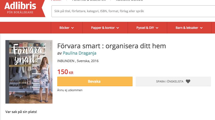 Boka Förvara smart - organisera ditt hem