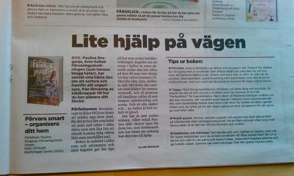 Morgonläsning i lokalbladets Bo Bra Hemma-bilaga från Gotlands Media