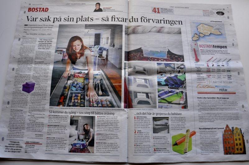 Förvaringsdrottningen i Stockholms lokaltidningar