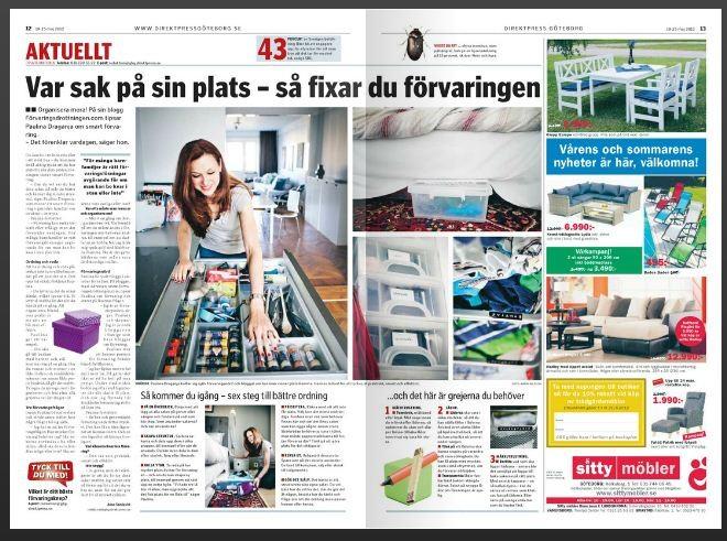 Förvaringsdrottningen i tidningen Centrum