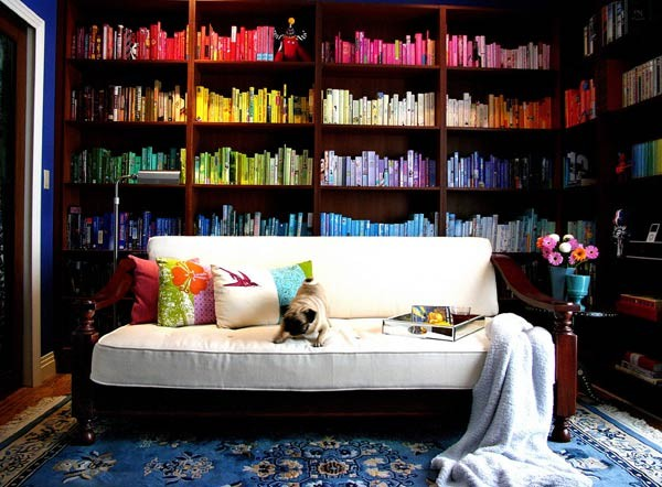 rainbow bookshelf - Freshome