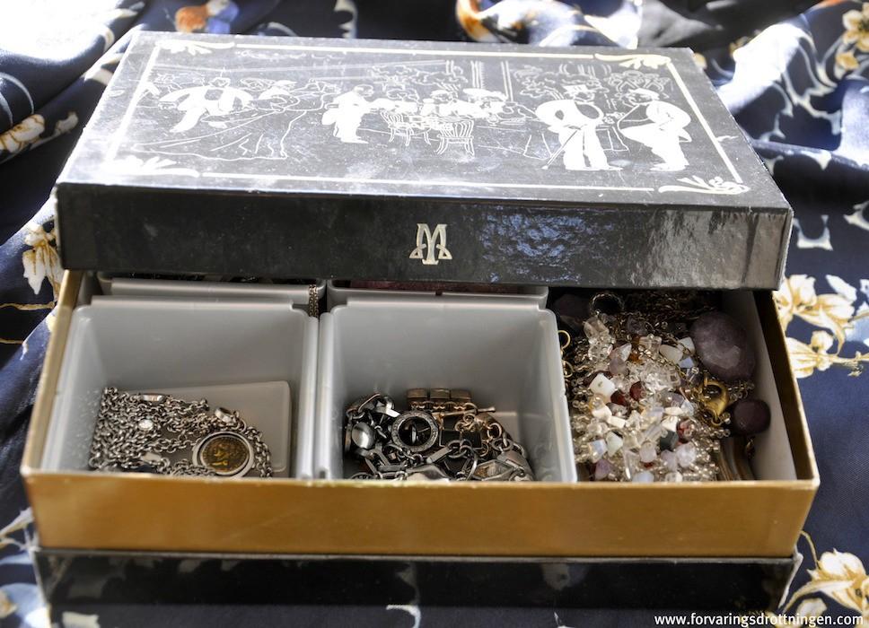 chokladask som smyckeskrin
