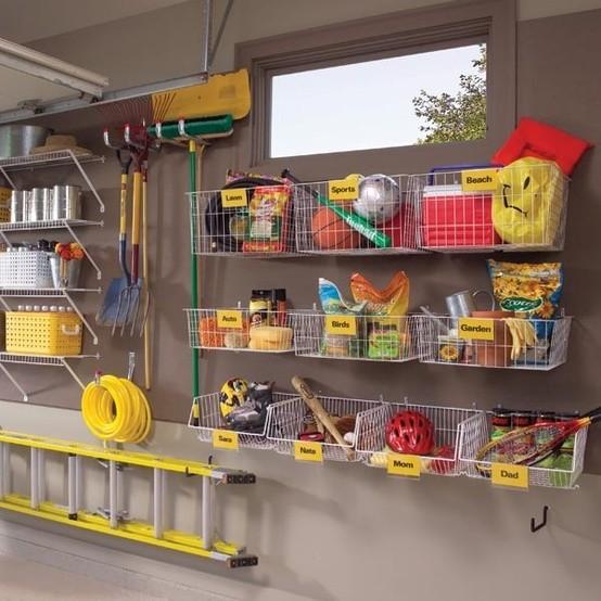 garageförvaring - namngivna backar