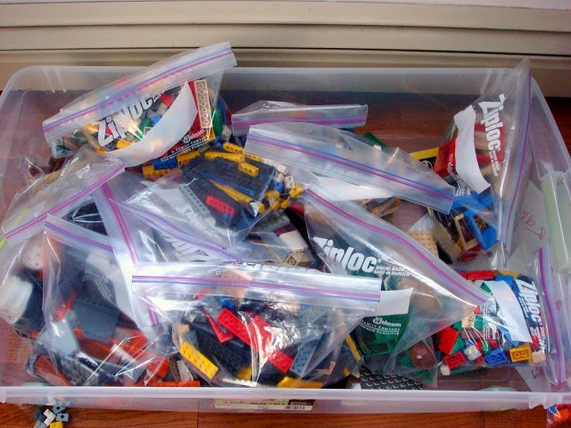 Ordning på lego i ziplock påsar