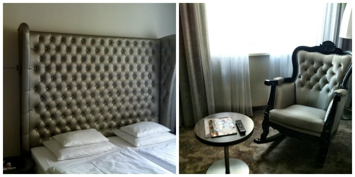 sängen och fåtöljen