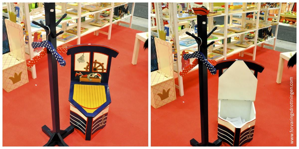 barnstol med förvaring - marin