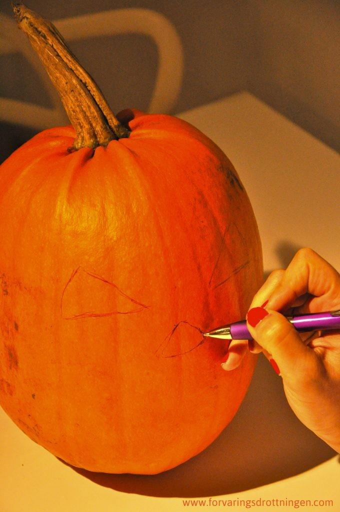 mönster halloween pumpa