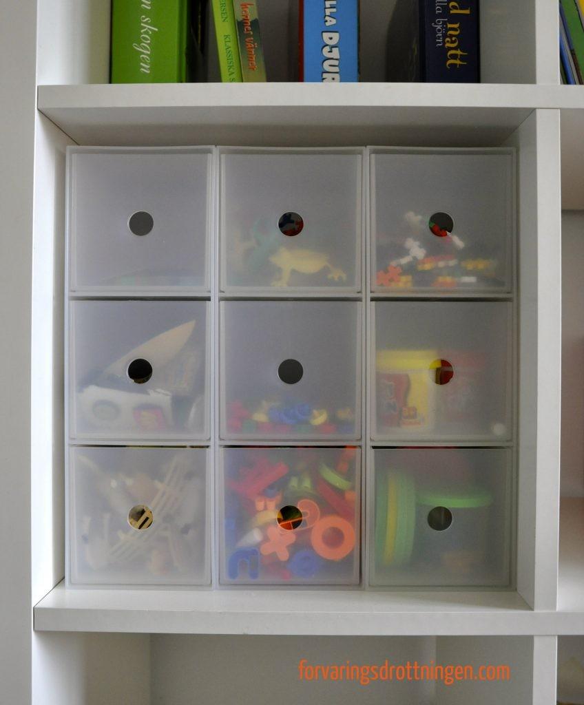 MUJI smålådor passar perfekt i IKEA Expedit hylla
