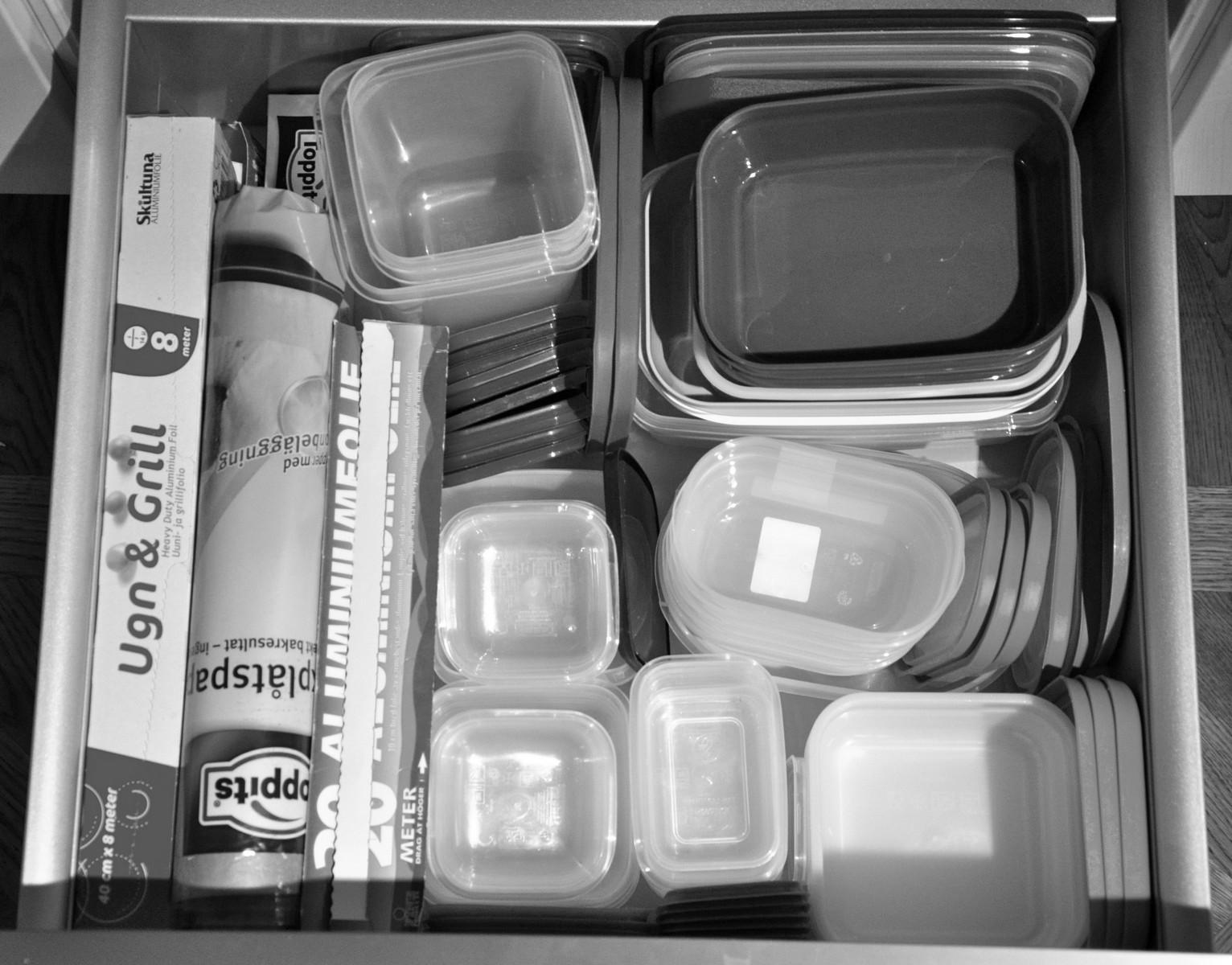 ordning bland plastförpackningar