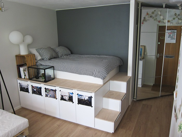 Förvaring under sängen - IKEAS köksluckor