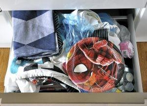 Kökslådan - före rensningen