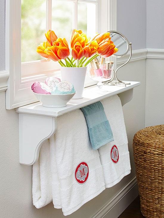 hängare till handdukar - inspiration för badrummet