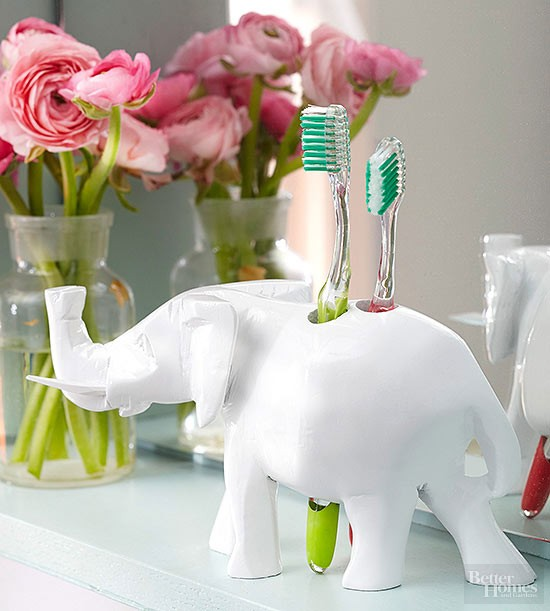 hållare tandborstar - inspiration för badrummet