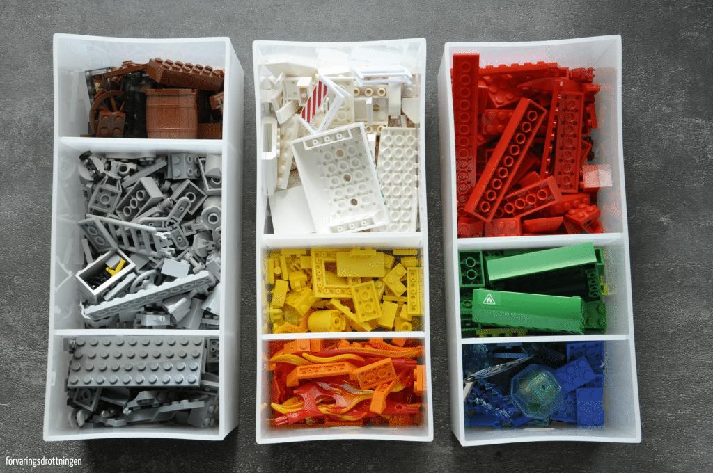 Organisera Lego efter färg