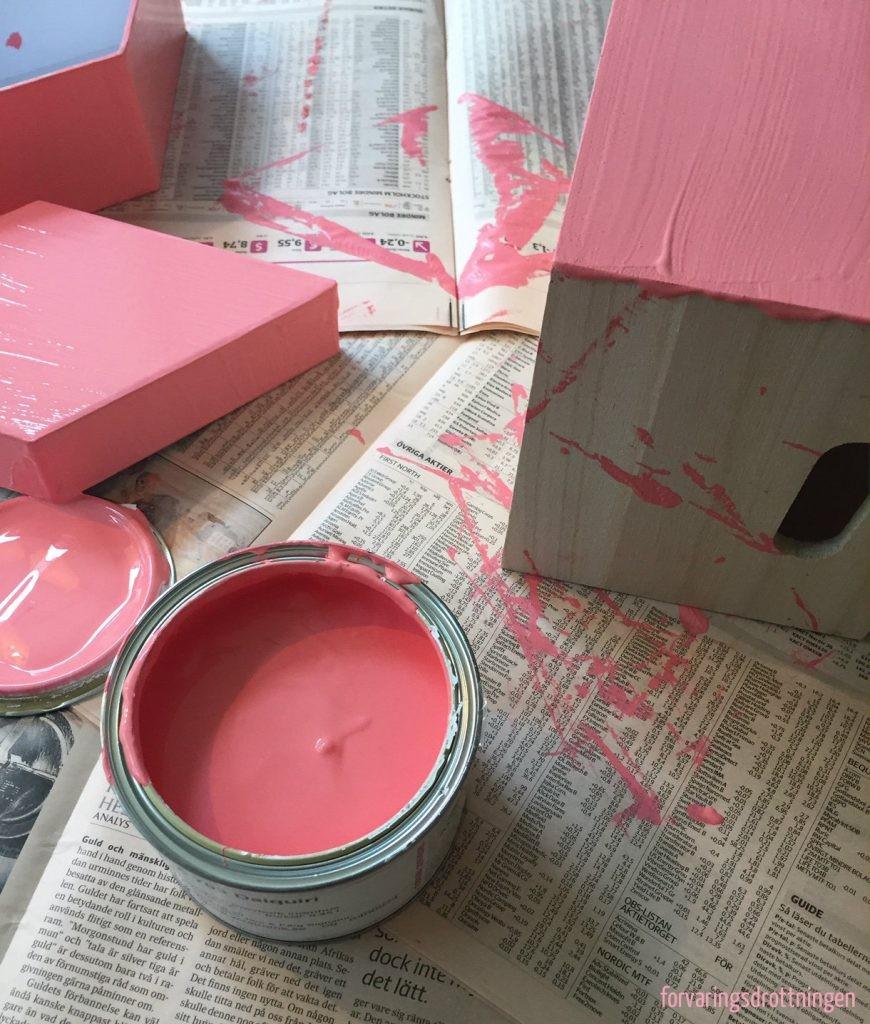 måla trälådor
