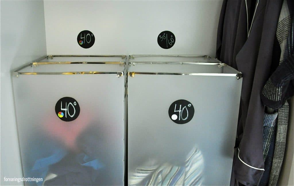 märkning för att sortera smutstvätten