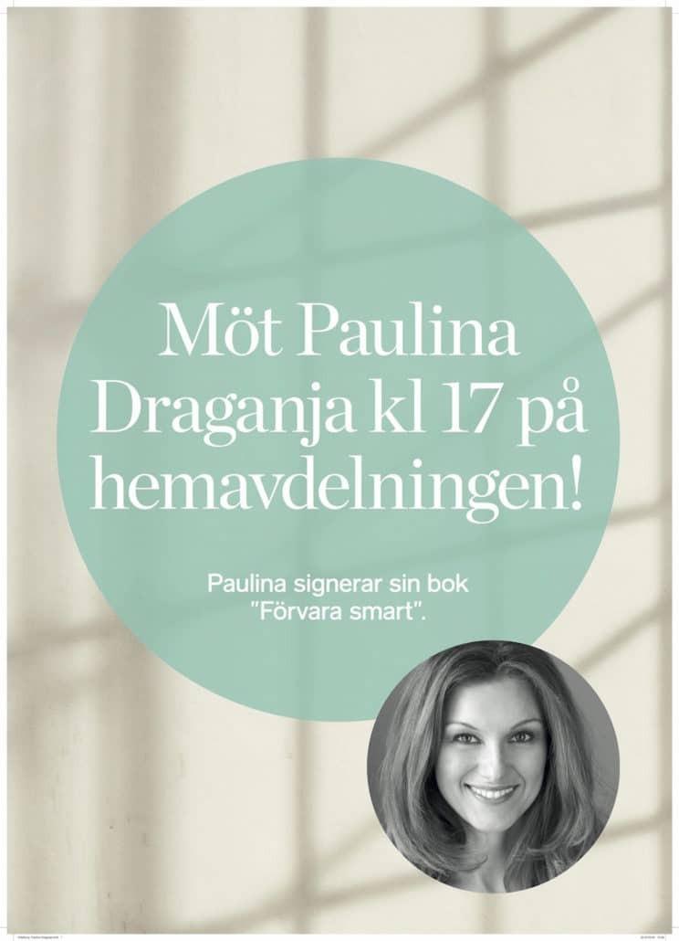 Boksignering Paulina Draganja Ahlens