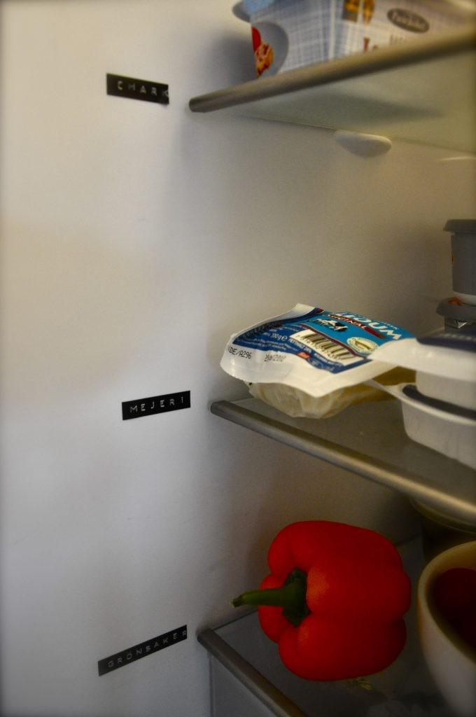 ordning i kylskåpet