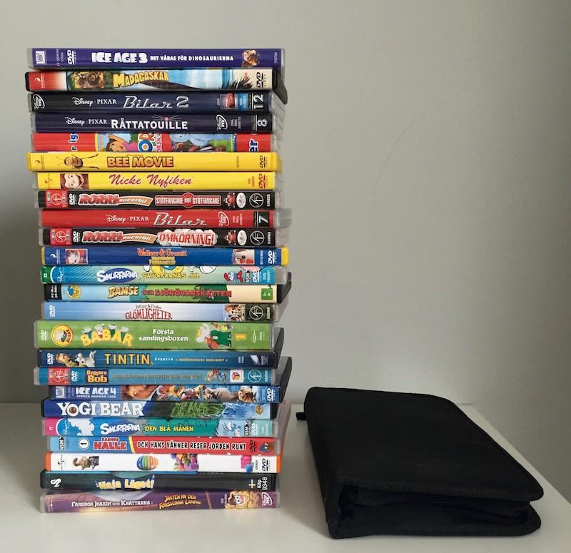 Rensa tv-bänken från DVD skivor