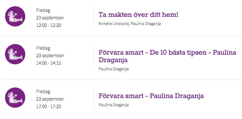Bokmässan 2016 Paulina Draganja Förvara smart - organisera ditt hem