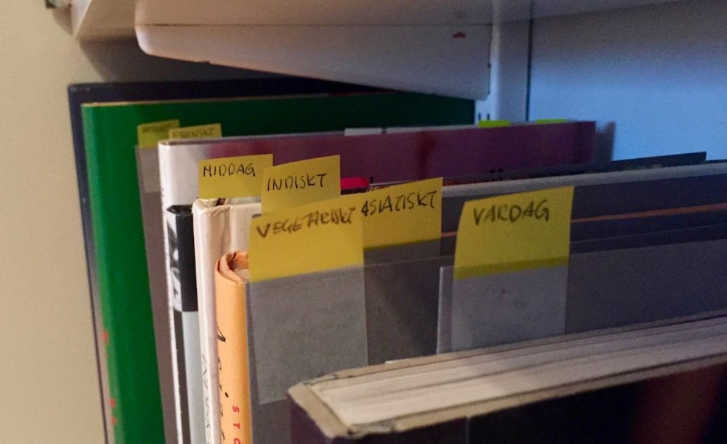 organisera kokböcker