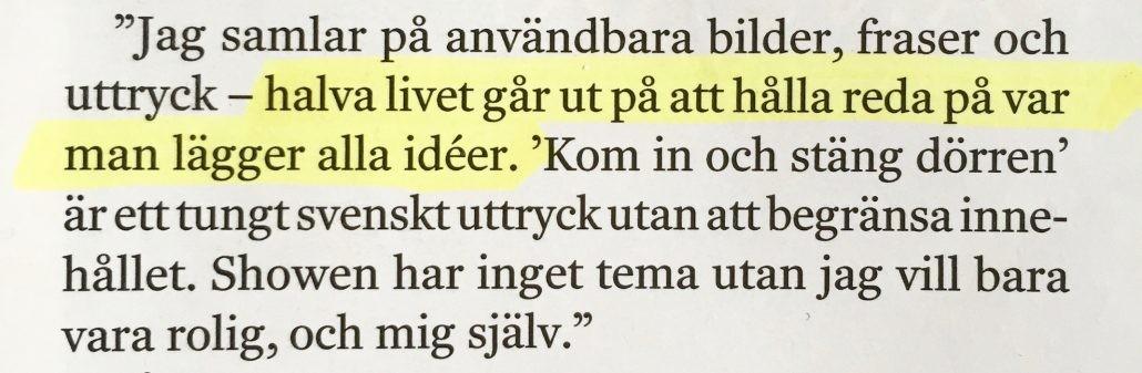 samla idéer citat Anders Jansson DI Weekend
