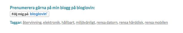 Taggar på bloggen