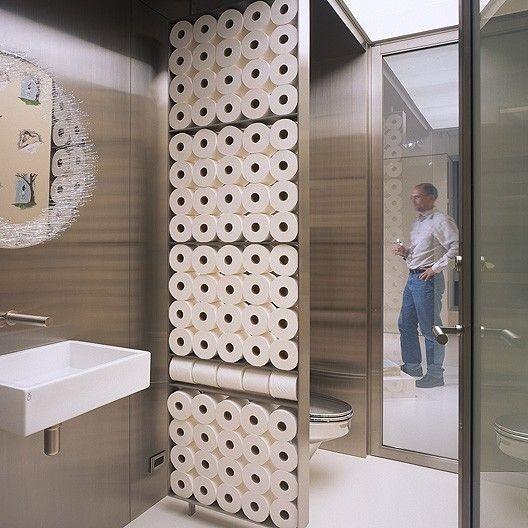 Toalettpapper som avdelare