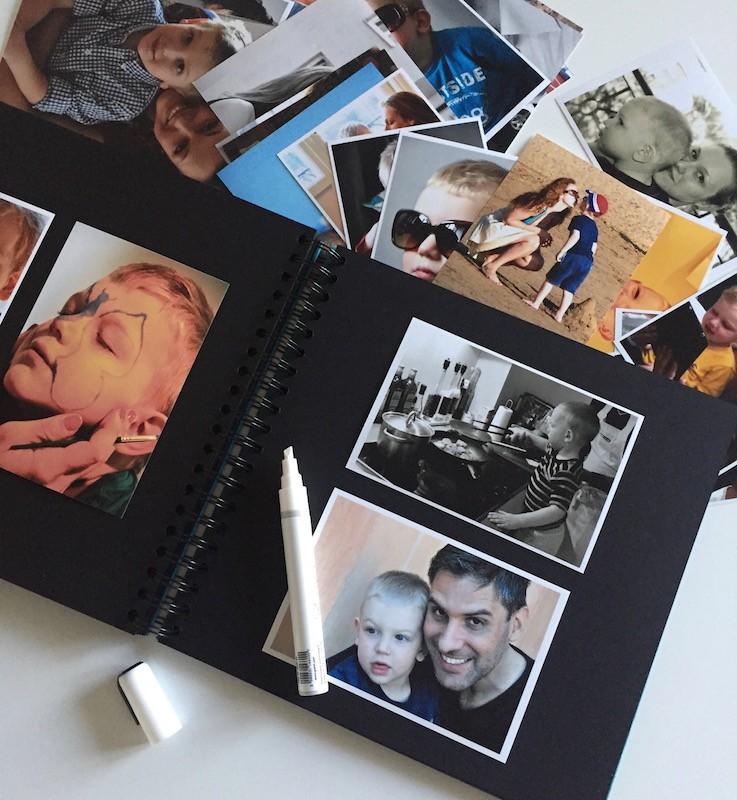 Organisera foton i en fotalbum