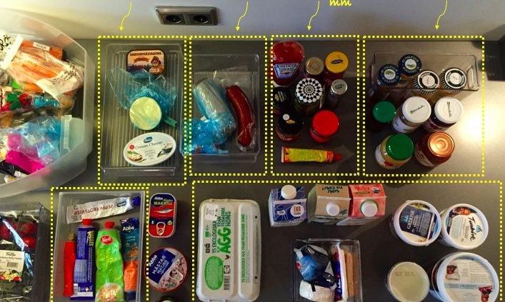 organisera kylskåpet