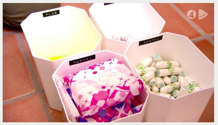 organisera tamponger och bindor