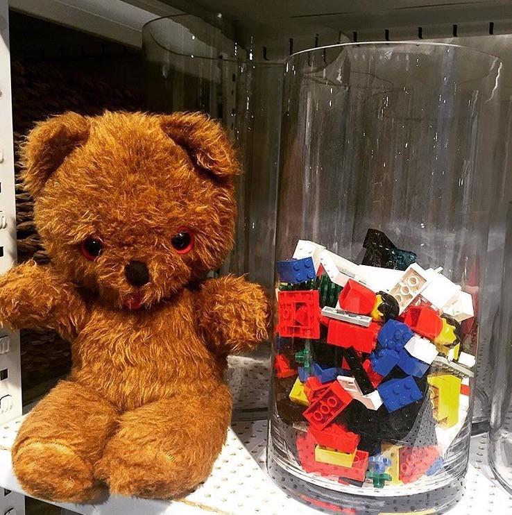 förvara och organisera Lego